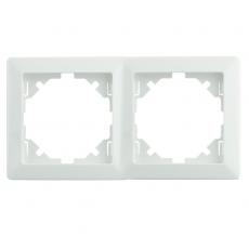 LUX 双位通用外框-白色