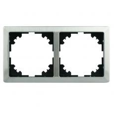 LUX METAL双位通用外框-不锈钢
