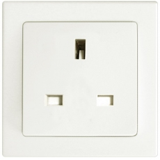 1 GANG BS 13A SOCKET UNSWITCHED-WHITE-TABLET