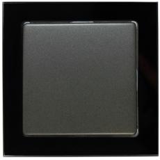 TABLET GLASS 单开双控-玻璃黑色外框/豪华灰色面板