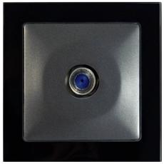 TABLET GLASS卫星插座-终端-玻璃黑色外框/豪华灰色面板