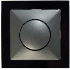 TABLET GLASS 双控卤素电子调光器500W-玻璃黑色外框/豪华灰色面板