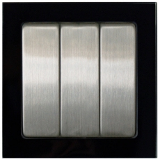 TABLET GLASS 三开-玻璃黑色外框/不锈钢面板