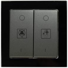 TABLET GLASS 双开带请勿打扰DND/请即清理MUR标志-玻璃黑色外框/豪华灰色面板