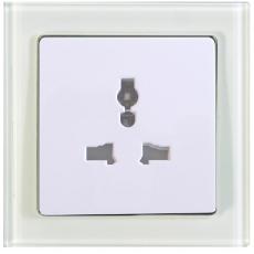 TABLET GLASS 萬能電源插座-玻璃白色外框/白色面板
