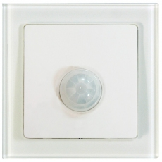 TABLET GLASS带开关光控感应开关-玻璃白色外框/白色面板