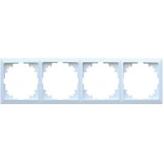 LUX 四位通用外框-白色