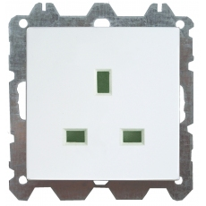 1 GANG BS 13A SOCKET UNSWITCHED WITHOUT FRAME-WHITE-LUX