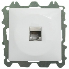 COMPUTER DATA SOCKET WITHOUT FRAME-WHITE-LUX