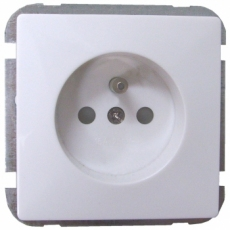 FRENCH POWER SOCKET-WHITE-LUX