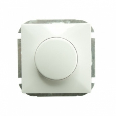 HALOGEN DIMMER 1 GANG 1 WAY 500W WITHOUT FRAME -EU-WHITE-LUX