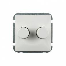 DUAL DIMMER WITHOUT FRAME-EU-WHITE-LUX