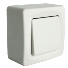 UNIFORM 自动?#29916;?#24335;门铃开关-白色