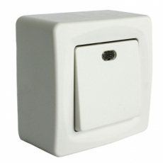 UNIFORM自动?#29916;?#24335;单开双控带灯-白色-收缩膜+中盒红色展示盒包