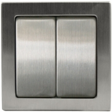 DOUBLE TWO-WAY SWITCH-TABLET METAL-STAINLESS STEEL