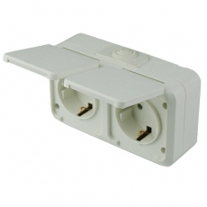 IP54 Double Schuko Socket-MaskA