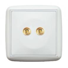 LOTUS 二接線柱音響插座-白色