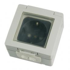 MASKC防水單位德式電源插座-淺灰色