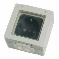 IP55 Schuko Socket with Child Protection-MaskC