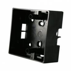 Square plastic switch installation box-black
