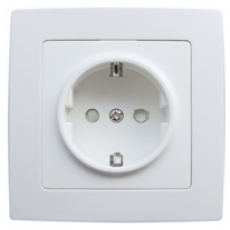 SHUKO POWER SOCKET-WHITE-FUTURE