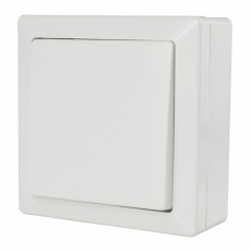 LUX墻上型單開帶安裝盒-白色