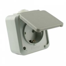 IP54 Schuko Socket with Child Protection-MaskA