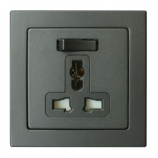 Tablet Universal Switched Socket-Antracite