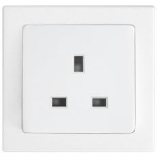 Tablet 13A三孔英式插座-白色