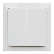 LUX 63L 双开双控开关-白色