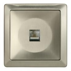 Lux Metal Telephone RJ11 Socket-Stainless steel