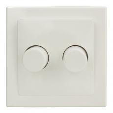 TABLET 双位白炽灯调光器300W-白色