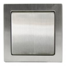 TABLET METAL 单开单控开关-不锈钢