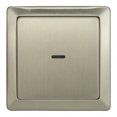 63LM-LUX METAL热水器开关带灯20A-不锈钢