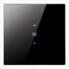 iTabletShutter 无线遥控触摸窗帘开关-玻璃黑色