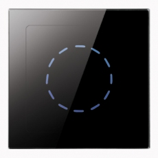 iTabletDim 無線遙控觸摸調光器-玻璃黑色
