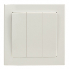 TABLET 三开复位开关 使用电动窗帘-白色