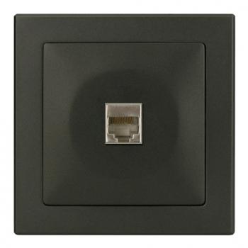 TABLET 電話插座 RJ11-豪華灰色-收縮+白色展示盒裝