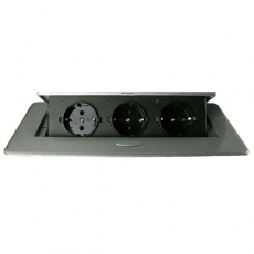 Office schuko socket-black