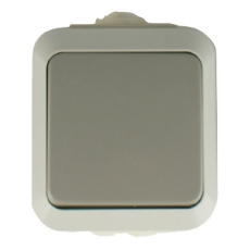 IP54 Single Push Button Switch-Grey- MaskA