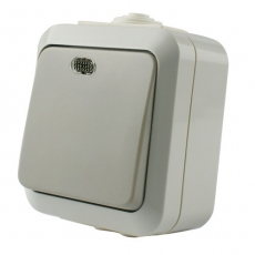 IP54 Single switch with indicator 10AX/250V