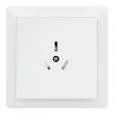 LUX 中式10A三極插座-白色
