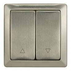 LUX METAL 窗帘双开复位带上下控制-不锈钢