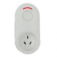 iPlug 歐式無線遙控移動插座中式(10A三插)-白色