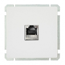 Face RJ45 socket without frame-White