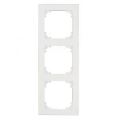 Face System 55 3 Gang Frame-White