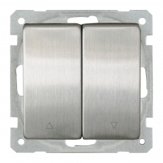 System 63 Lux Metal Shutter Switch without Frame-Stainless Steel
