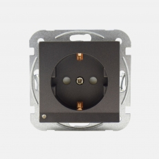 System 55 Shuko Power Socket-Face-Antracite