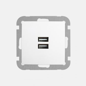 FACE Dual USB charging socket-without frame-+Face single frame