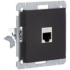 Face RJ45 socket without frame-anthracite